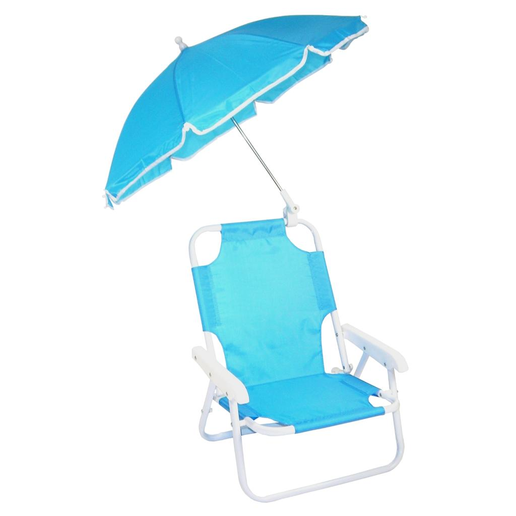 Child Beach Chair New Children 39s Folding Beach Chair With Umbrella Blue Ebay