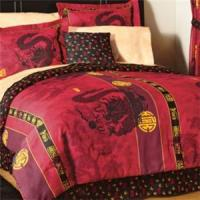 New Asian Dragon Red Gold Comforter Sheets Valance Pillow ...