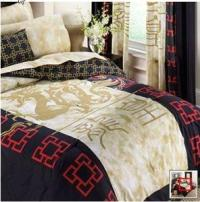 NEW! Oriental Asian Comforter Sheet Set Bed in a Bag King ...
