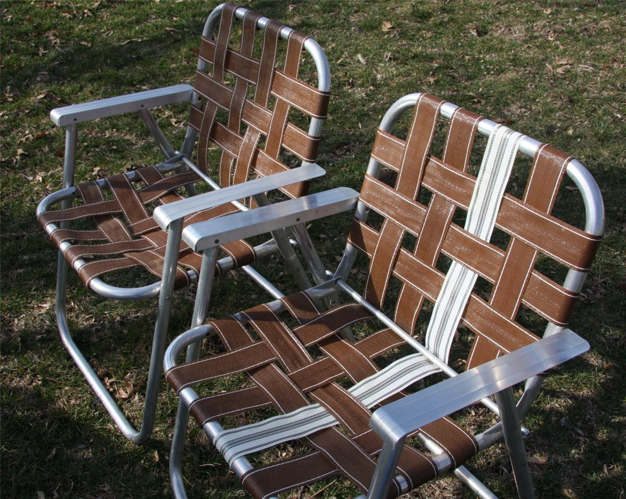 Retro Lawn Chairs 2 Retro Aluminum Retro Folding Lawn Chair Mid Century