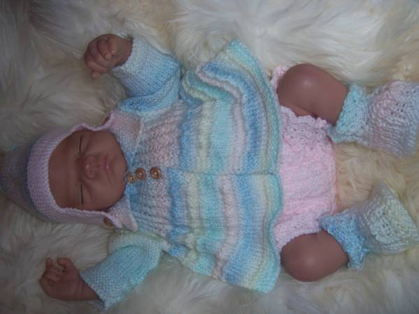 Knitted Baby Clothes Outfit Reborn Dolls