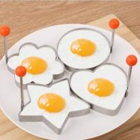 4x Stainless Steel Cooking Fried Egg Pancake Ring Mould ...