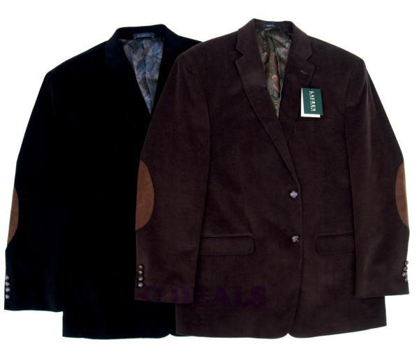 Lauren Ralph Mens Corduroy Jacket Blazer Coat Multi