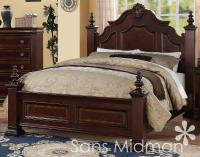 NEW! Chanelle Queen Size Bed Set, 2 pc Traditional Cherry ...