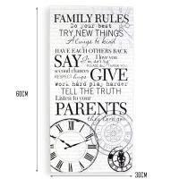 """Family Rules"" wall decoration wooden hanging wall sign ..."