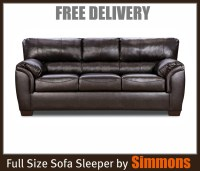 Bonded Leather Sleeper Sofa by Simmons ~ FREE Delivery