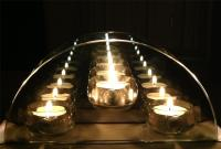 Infinity Glass TeaLight Candle Holder Reflective Tea Light
