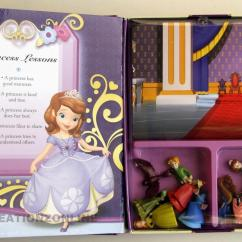 Childrens Toy Kitchen Table For Small Sofia The First My Busy Books 12 Figures + Play Mat Kids ...