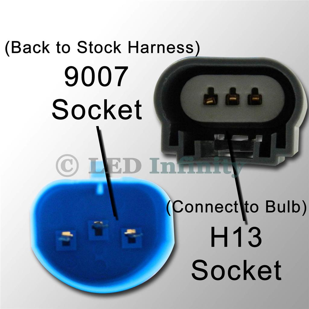 Wiring Harness Socket Connector Plug Extension For Headlight Fog Hid