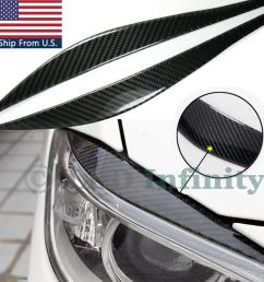 details about carbon fiber upper headlight eye brow lids cover for 2012 2017 bmw f30 3 series [ 1024 x 1024 Pixel ]