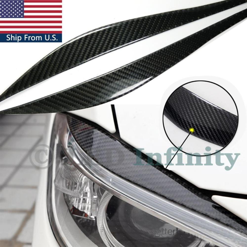 medium resolution of details about carbon fiber upper headlight eye brow lids cover for 2012 2017 bmw f30 3 series
