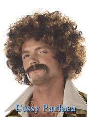 men's 1970s disco stud wig 70s