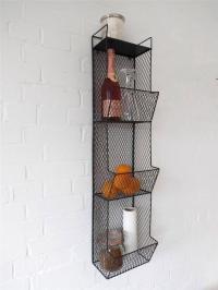 Kitchen Metal Wall Wire Rack Storage Shelf Black ...