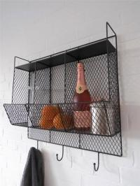 Kitchen Metal Wire Wall Rack Shelving Display Shelf ...