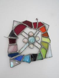 Vintage Stained Glass Window Decoration Scandinavian ...