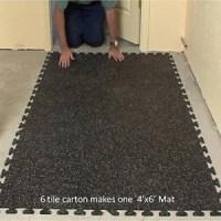 Rubber Floor Tiles: Interlocking Rubber Floor Tiles Basement