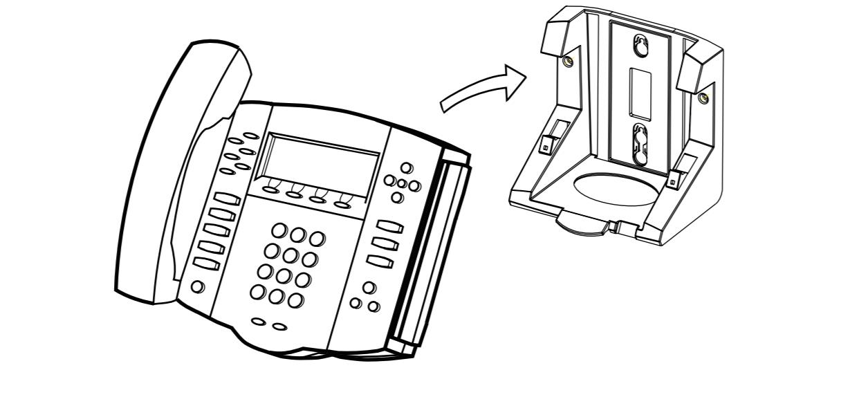 SoundPoint IP 550/560/650/670 Phone Wallmount Bracket Kit