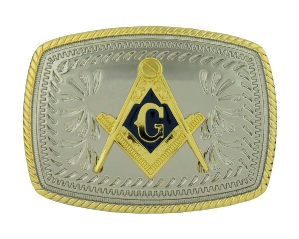 Mason Compass Masonic Symbol Western Cowboy Gold Color