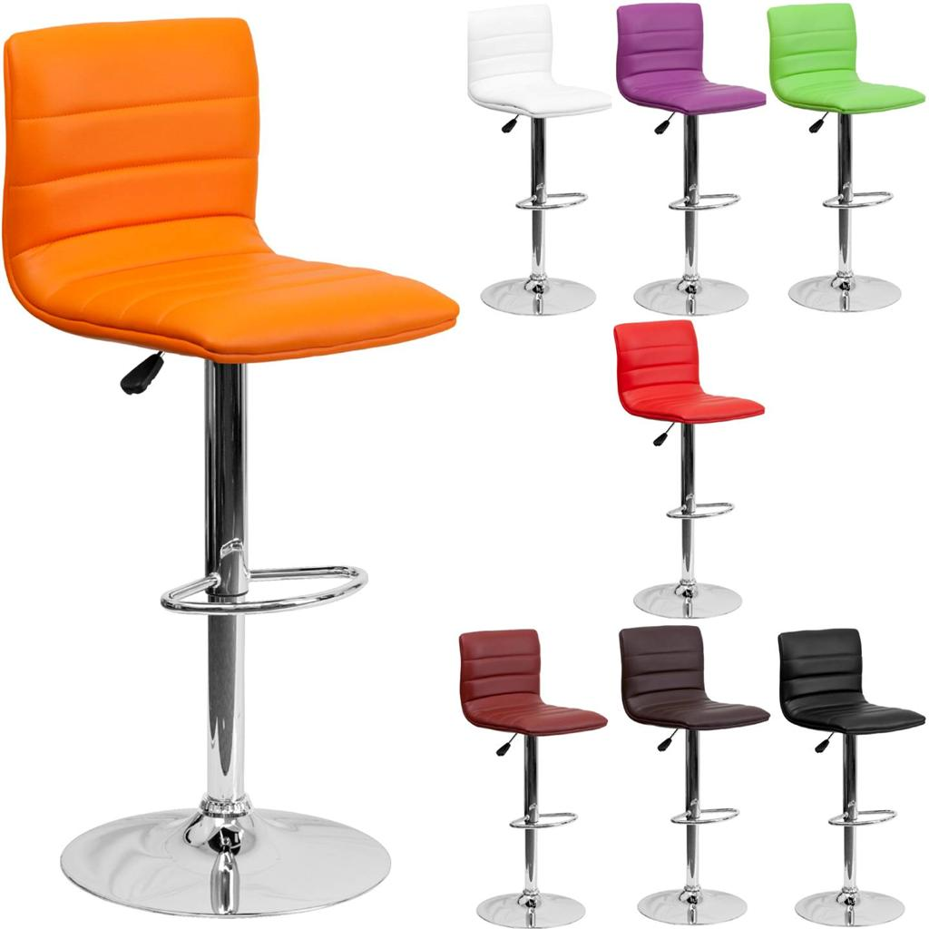 Metal Counter Height Chairs Unique Modern Adjustable Height Metal Bar Stool Swivel