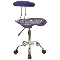 Leather Office Chairs Without Arms Chair Arm Covers Best Tractor Seat Chrome Metal Computer Task Desk Swivel Wheels New | Ebay