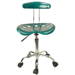 Swivel Desk Chair Without Wheels Swing Egg The Range Best Tractor Seat Chrome Metal Computer Task Office New   Ebay