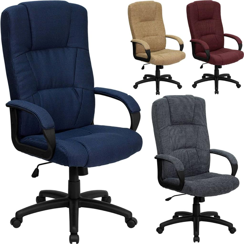 Cloth Computer Chair Best High Back Executive Desk Computer Office Chair Fabric