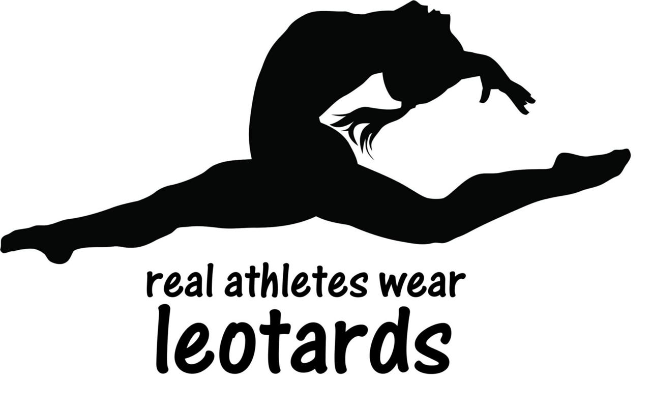 Gymnastics Sticker Real Athletes Wear Leotards Wall