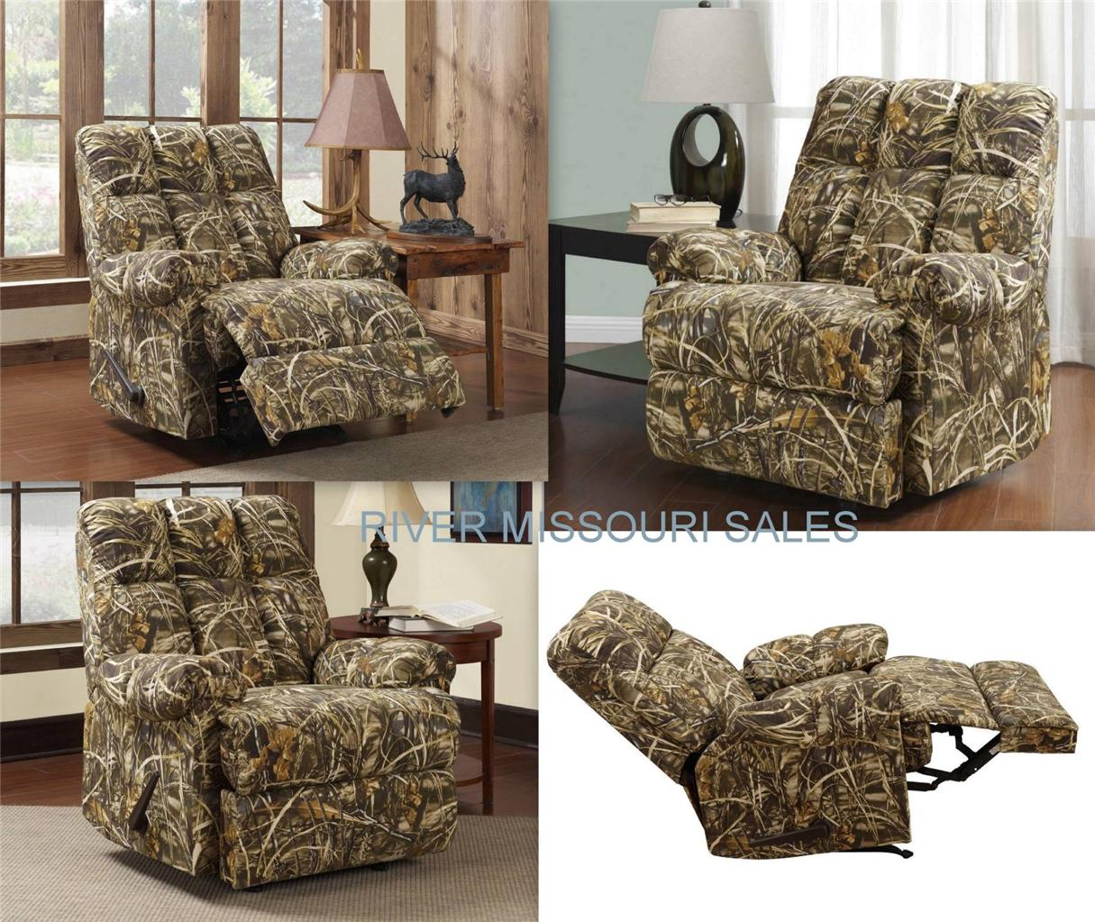 Camo Recliner Chair Realtree Living Camouflage Camo Rocker Recliner Chair