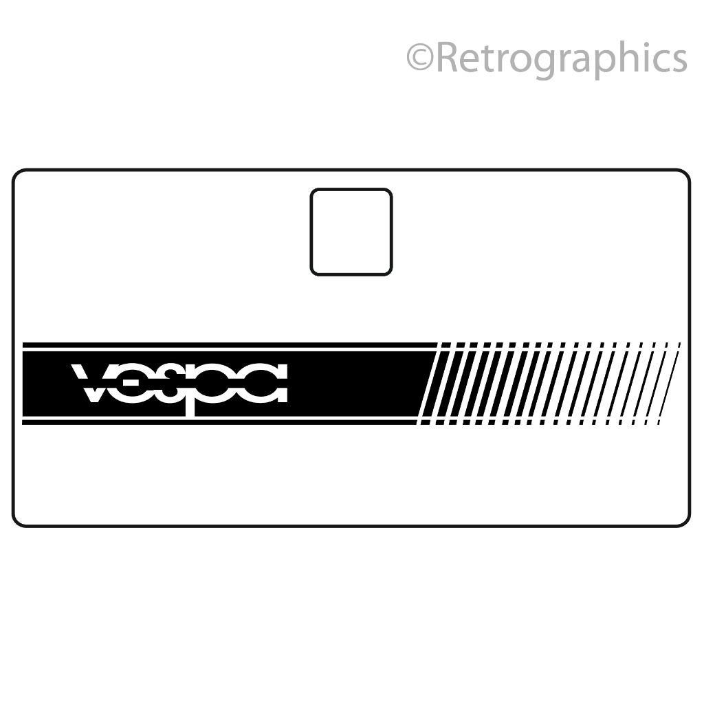 Stripe with Vespa text- VESPA PX Toolbox Sticker PX 125