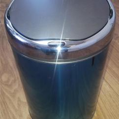 Stainless Steel Kitchen Trash Can Portable Kitchens Silver And Black Electric Sensor Bin   Ebay
