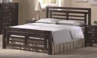Colorado Dark Wood Bed Frame - 4ft6 Double or 5ft Kingsize ...