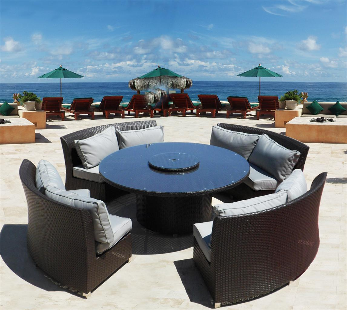 Austin Sofa Sectional & Dining Set Outdoor Wicker