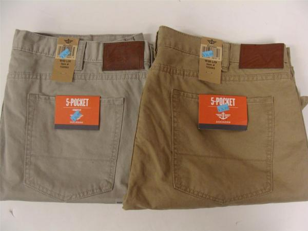 Docker' Men' 5-pocket Straight Fit Khaki' In Assorted Sizes & Colors Nwt