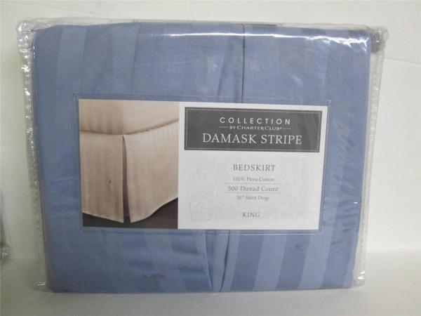 Charter Club Damask Stripe 500 Thread Count Bed Skirt