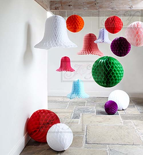Paper Lanterns Honeycomb Balls For Wedding Baby Shower Party Home