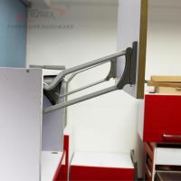 Kitchen Double Buffering Closet Cabinets Lift Up Door Open ...