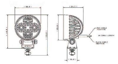 Britax L80 High Power LED Work lamps/lights 600 Lumens 12