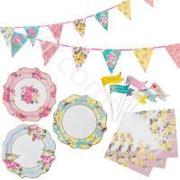 Truly Scrumptious Tea Party Tableware Set Napkins, Plates ...