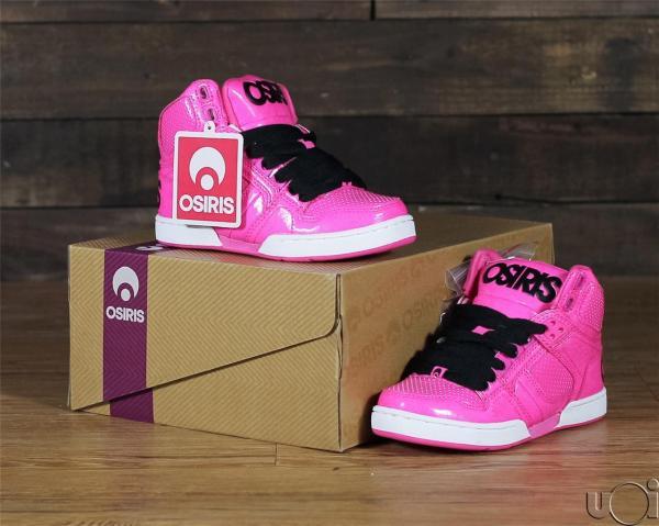 Kids Youth Nyc 83 Osiris Skate Shoes Black Shiney