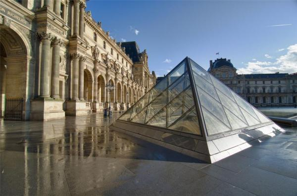 Louvre Glossy Poster Museum Paris France History Nice Day 1411