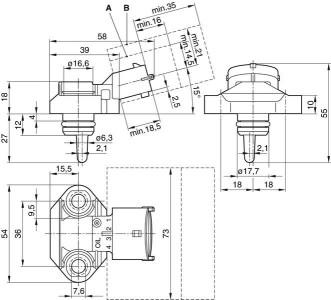 Bosch 0281002420 ,0 281 002 420 Intake Manifold Pressure