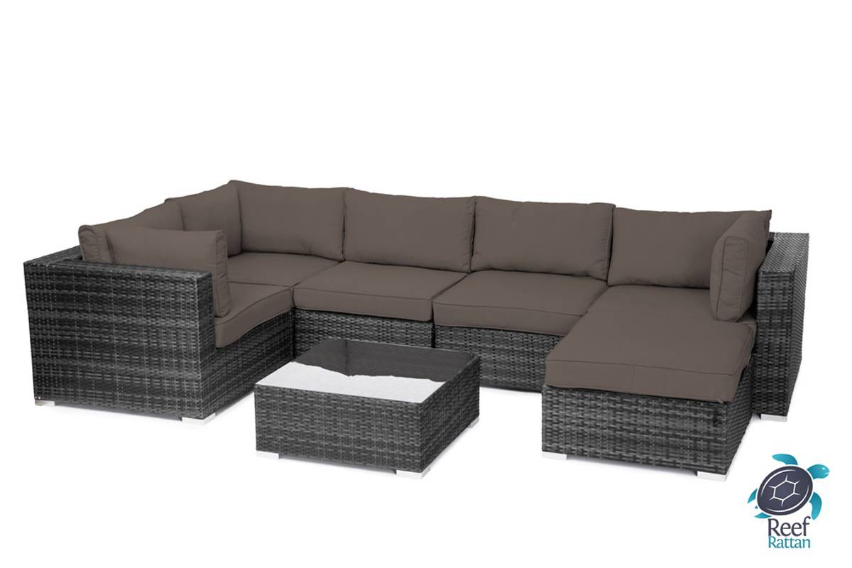 sectional sofa fabric choices convertible dining table outdoor garden furniture 7pc grey rattan