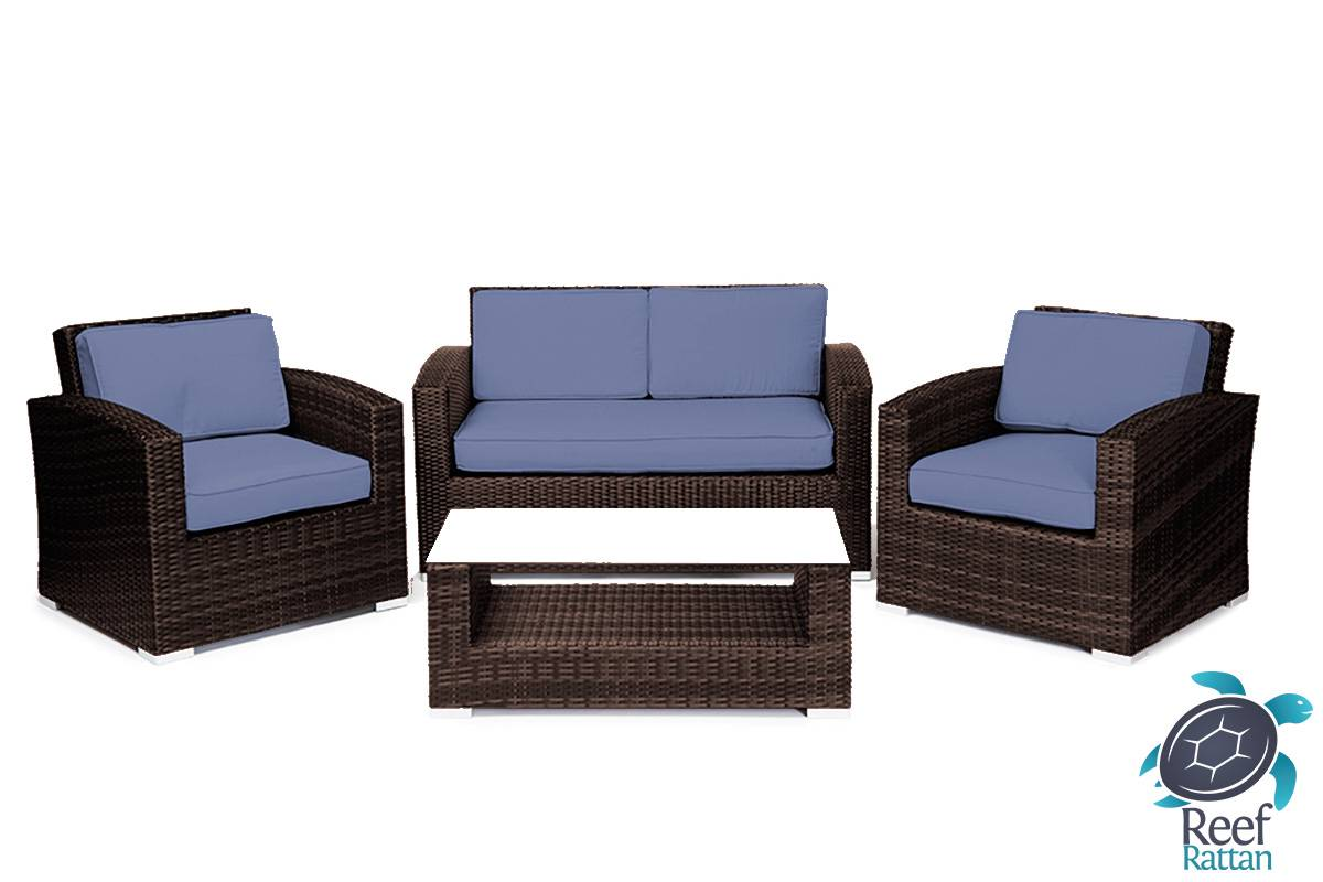 sofa beds with sunbrella fabric cover blankets patio furniture wicker conversation set brown rattan