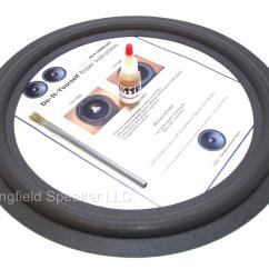 Amplifier Wiring Kit Radio Shack Toyota Diagram Color Codes Realistic Mach Ii Speaker Foam Surround Repair
