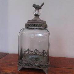 Decorative Glass Jars For Kitchen Bronze Cabinet Hardware Filigree Cup Cake Stand Single 2 3 Tier