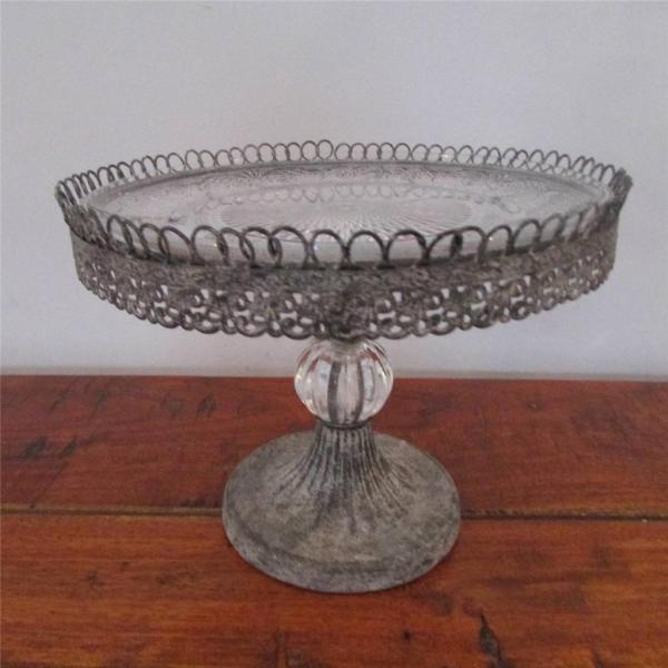 Filigree Cup Cake Stand Single 2 3 Tier Decorative Glass