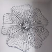 EXTRA LARGE FLOWER METAL WALL ART BLACK JEWELLED 86X83CM ...