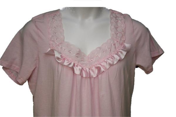 Women' Size Short Sleeve 100 Cotton Nightgown