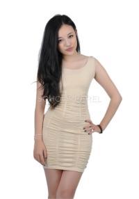 Soho Apparel Sexy Form Fitting Sleeveless Scrunch Dress SG ...