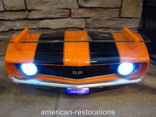Chevy Camaro 3- Wall Glass Shelf Working Led Headlights
